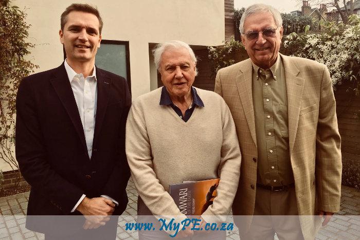 Paul Gardiner, David Attenborough and Adrian Gardiner