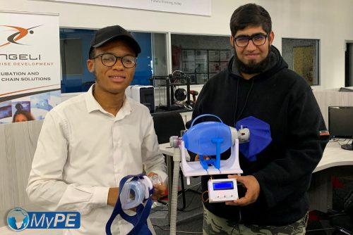 Salutaris: The Salutaris bag mask ventilator prototype.