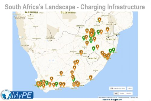 Electric Vehicle Charge Points in South Africa - 2020